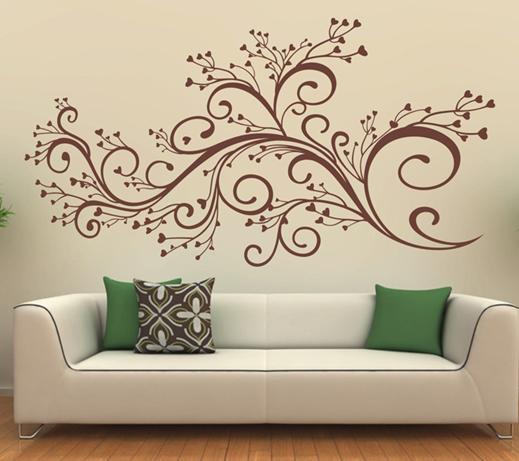 Трафареты для рисунки на стенах квартир своими руками 849