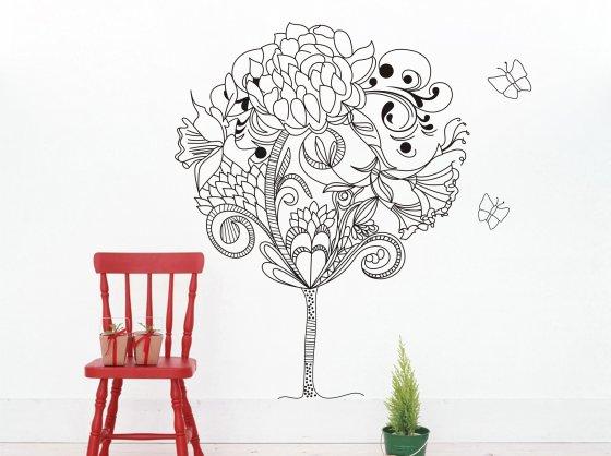 Цветы на стены своими руками